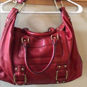 Banana Republic Red leather shoulder bag